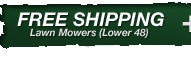 Free Freight on Most Mowers