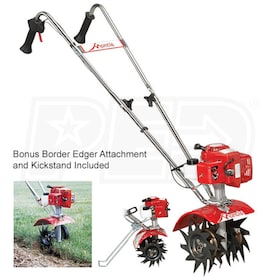 "Mantis (9"") 21.2cc Gas 2-Cycle Cultivator/Mini Tiller w/ BONUS Kickstand & Border Edger"