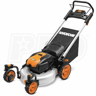"Worx (19"") 56-Volt Lithium-Ion Cordless Electric Lawn Mower"